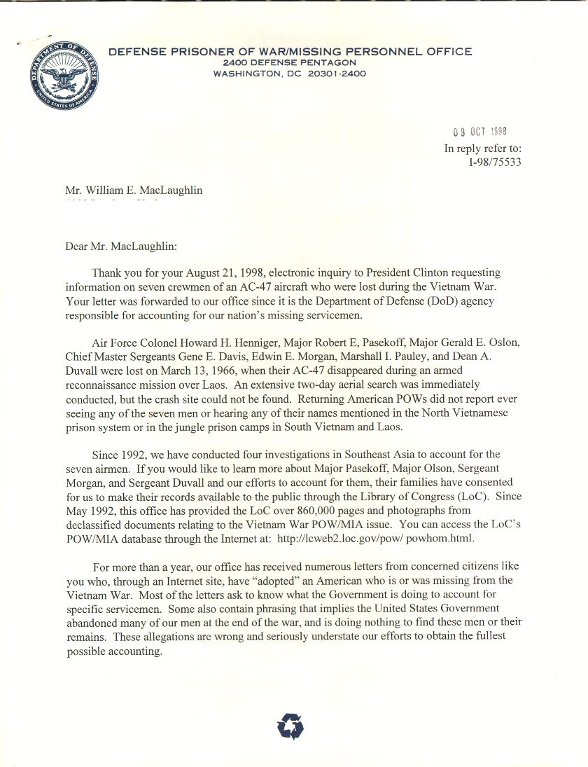 White House Responce Page 1